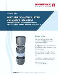 whitepaper why listed chimneys leak