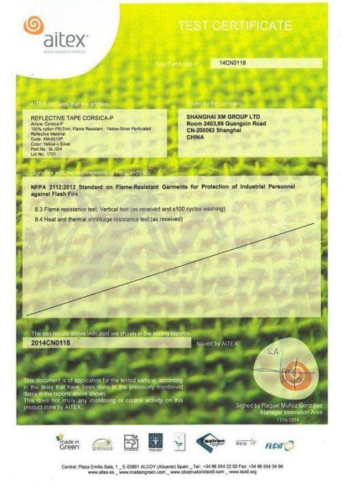 XM-6010P: NFPA 2112 (100×60°C)