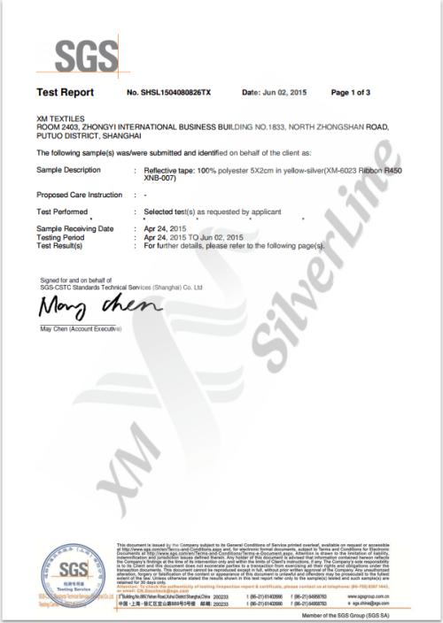 XM-6023-SO: EN 20471 <br>(25×60°C)
