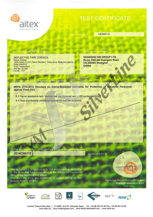 XM-6010: NFPA 2112 <br>(100×60°C)