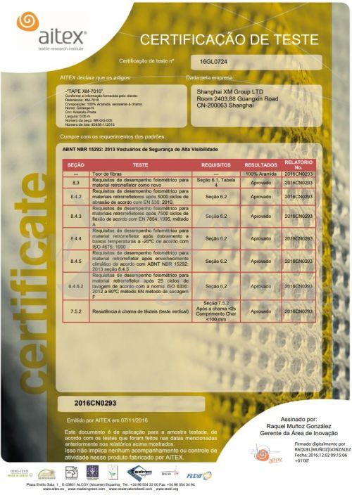 XM-7010: ABNT NBR 15292 <br>(25×60°C)