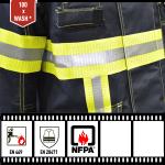 Perforowana taśma odblaskowa XM-6010P spełnia wymogi normy NFPA 2112