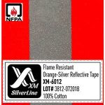 FR Reflective tape XM-6012 has passed NFPA 2112 after 100x wash cycles