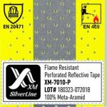 EN 469 & EN 20471 for Perforated reflective tape XM-7010P