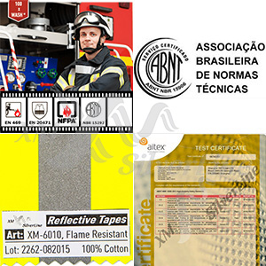 Reflective tape XM-6010 certified to NBR 15292