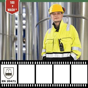 Le bande réfléchissante XM-6005B résiste au linge industriel (conforme au certificat EN 20471)