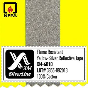 FR Reflective tape XM-6010 has passed NFPA 2112 after 100 wash