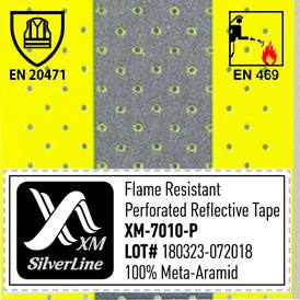 EN 469 & EN 20471 for Perforated reflective tape XM-7010PNew certificates