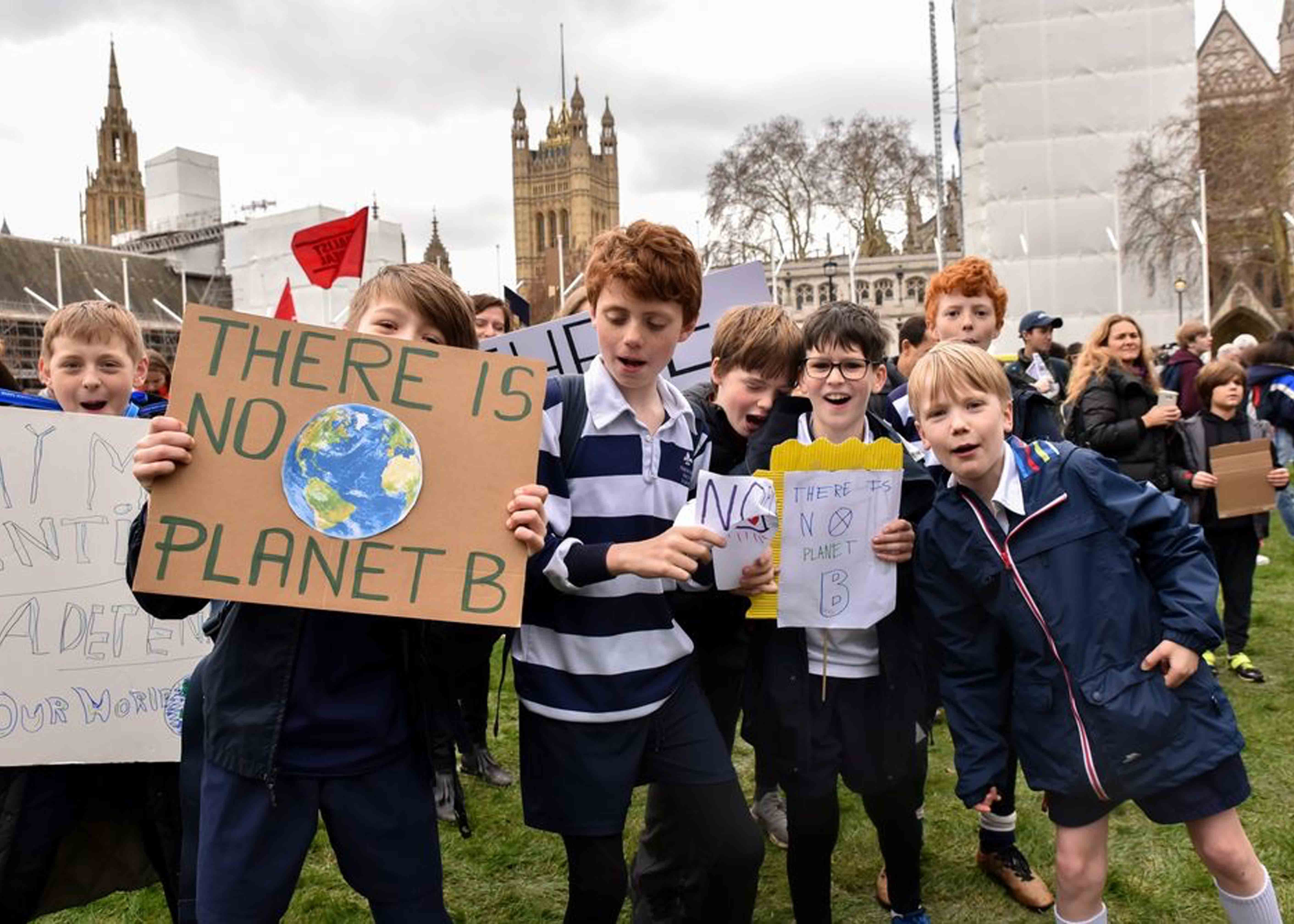 Children protesting for climate change