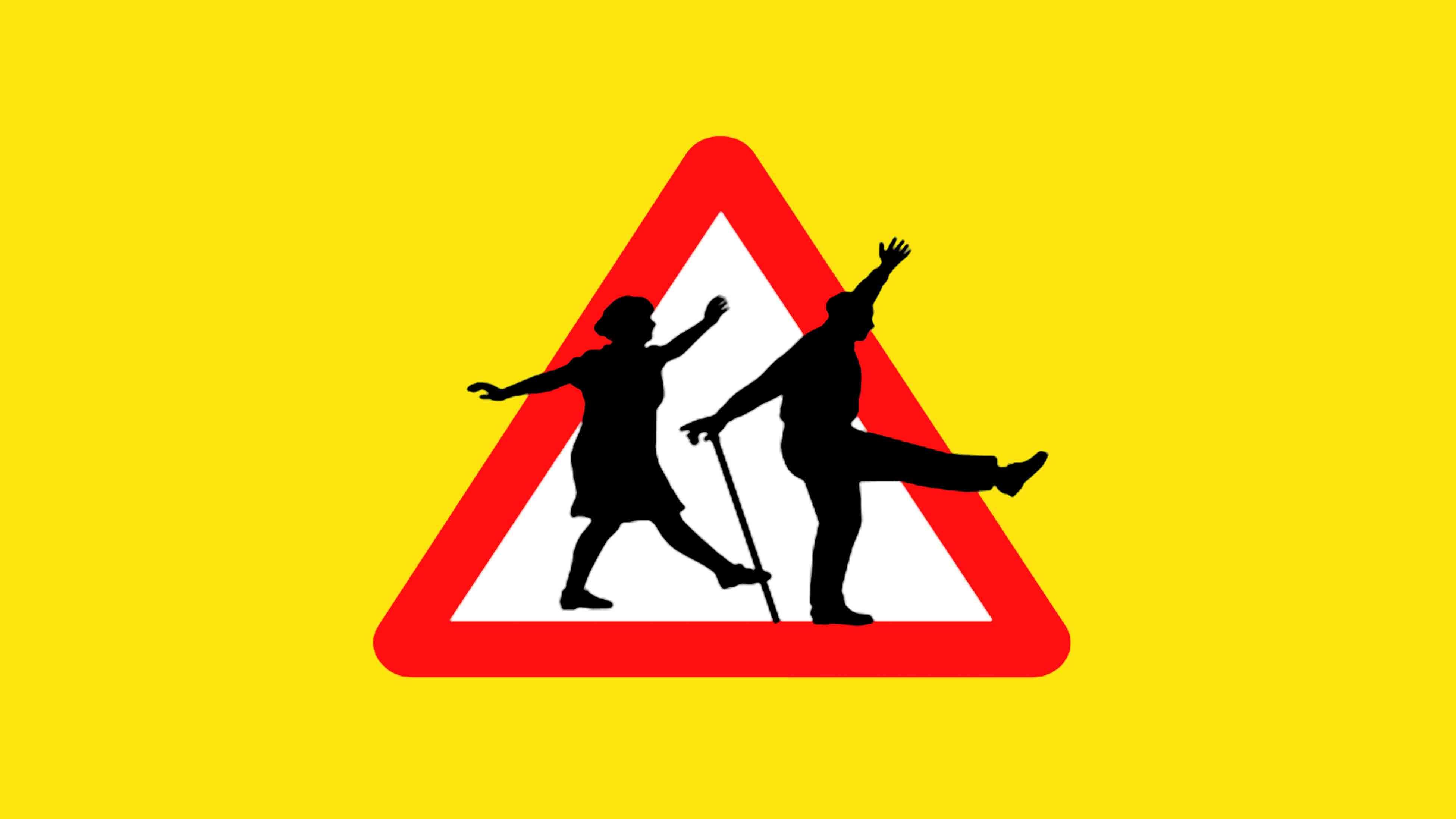 Alternative elderly road sign