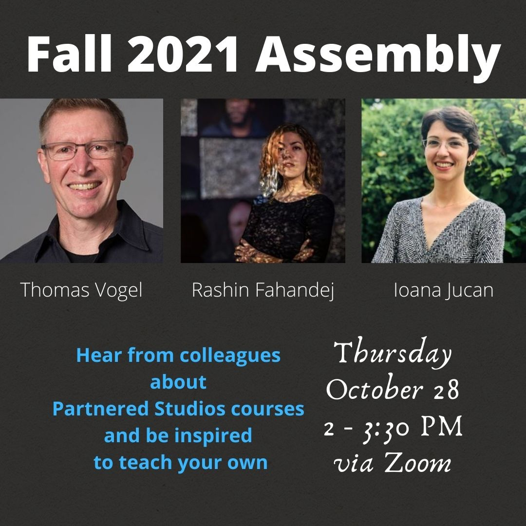 Image for 'School of the Arts Fall 2021 Assembly: Partnered Studios Course' event
