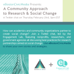 Research and Social Change  								Twitter Chat