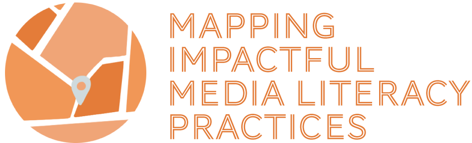 Logo with text 'Mapping Impactful Media Literacy Practices'