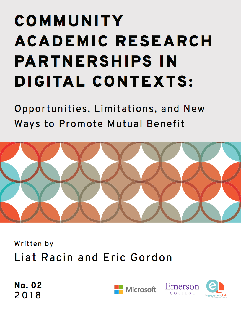 Community Academic Research Partnerships in Digital Contexts
