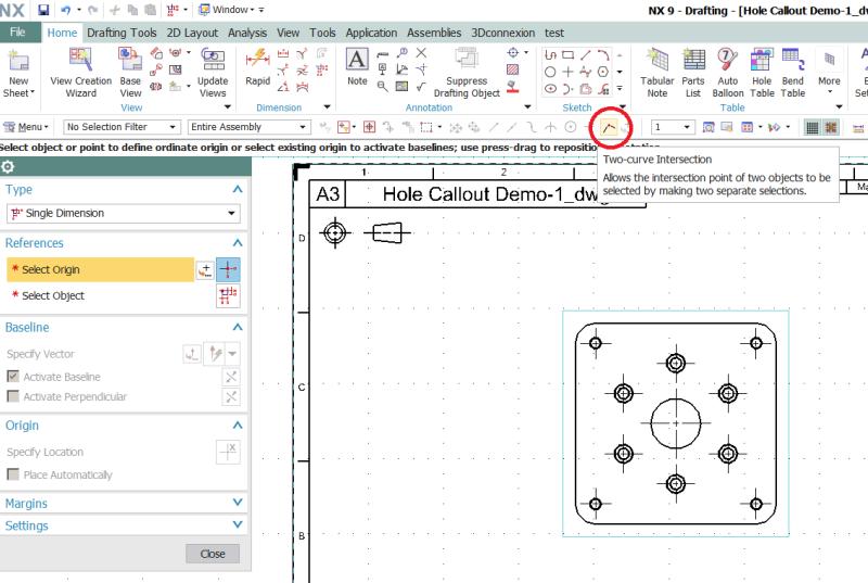 How Can I Find Ordinate Origin Symbol In Nx9 Siemens Ugnx Eng