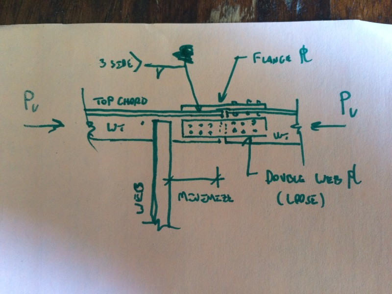Splice design for a WT section - Structural engineering