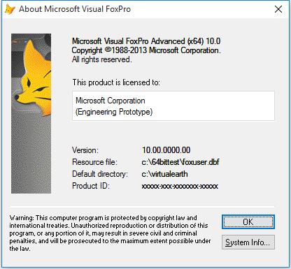64-Bit VFP - Microsoft: FoxPro - Tek-Tips