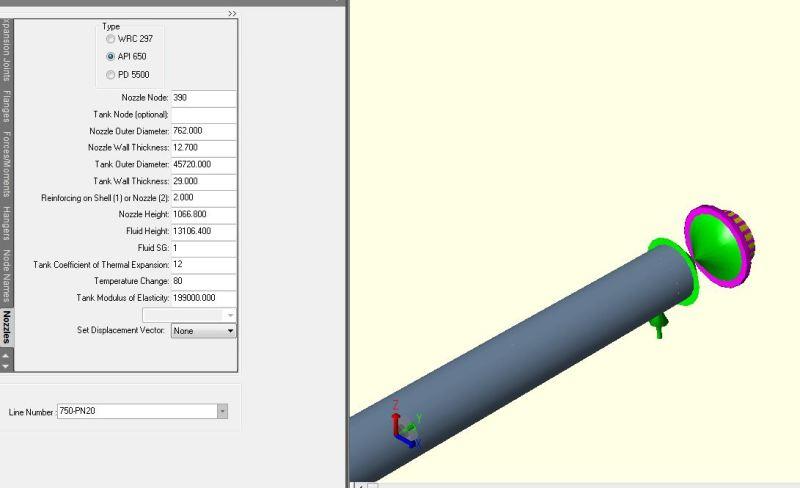 Modeling tank nozzle in CAESAR II - API 650 - COADE, Inc