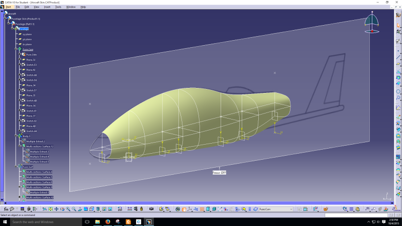 Using CAD to help with Aircraft Conceptual Design - Aircraft