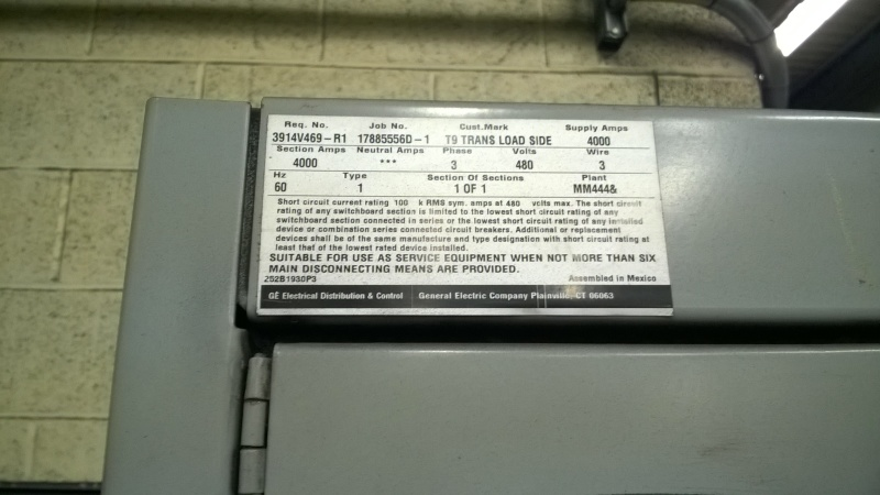 Ground Fault Interupter on 3 wire 480 system? - Electric power