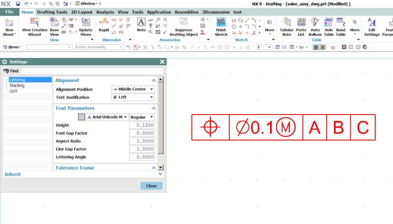 Gdt Symbol Sizes Quirk Siemens Ugnx Eng Tips