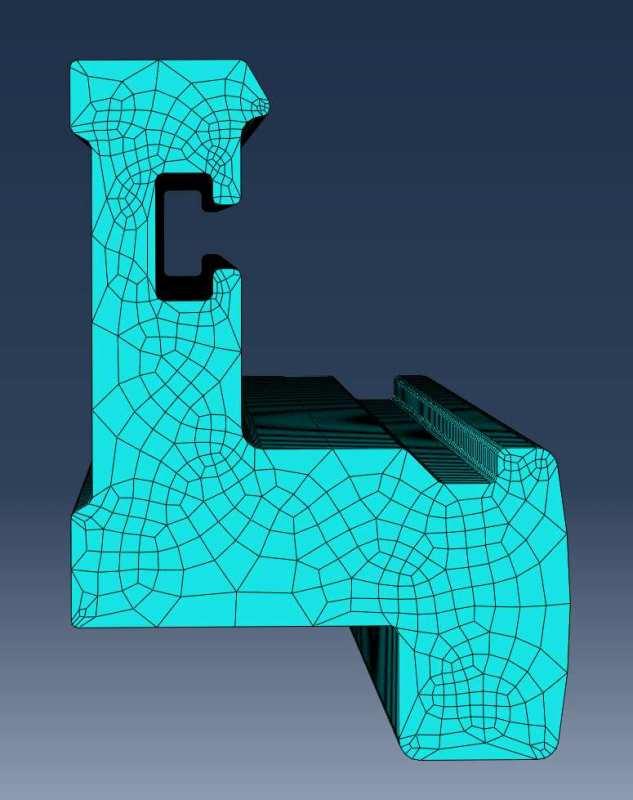 ABAQUS FEA of aluminium profile bending: Which mesh type