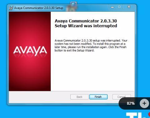 IP Office communicator installation interrupted - Avaya: IP