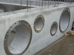 Puddle Flanges Combining Piping Penetration Together