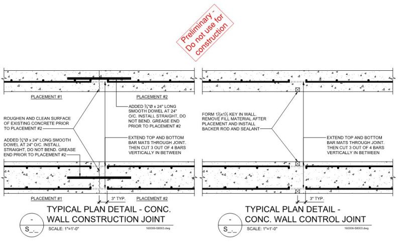 Concrete Wall Joints and Corner Details - Structural