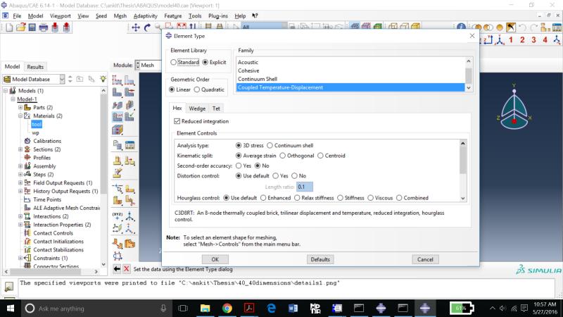 ABAQUS/explicit (dynamic,temp-disp,explicit step) EXCESSIVE