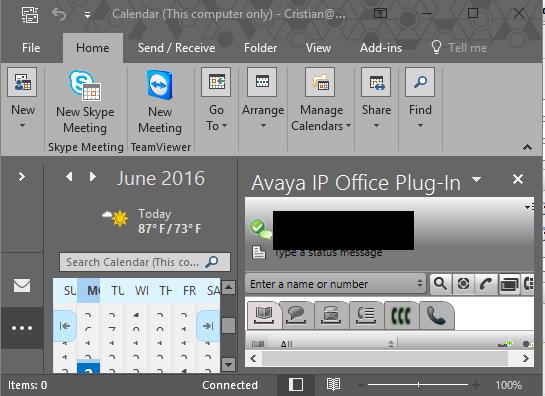 One X plugin and Outlook 2016 - Avaya: IP Office - Tek-Tips