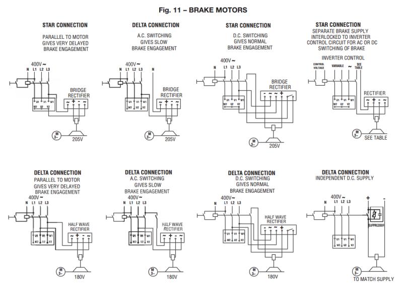 electric motor wiring diagram rectifier brake rectifier - electric motors & generators engineering ...
