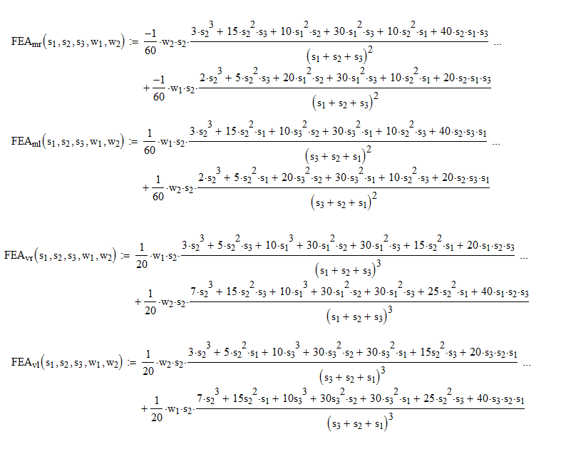 Fixed-end moments for Trapezoidal load on part of span