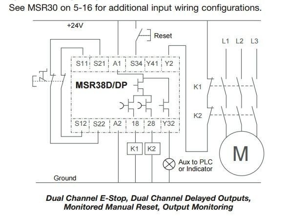 Excellent Msr38 D Dp Safety Relay Circuit Circuit Design Eng Tips Wiring 101 Cranwise Assnl