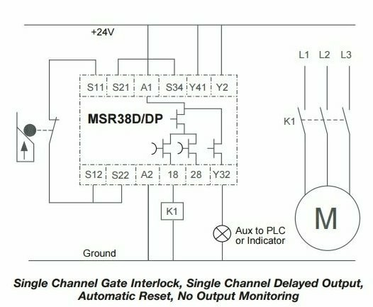 Tremendous Msr38 D Dp Safety Relay Circuit Circuit Design Eng Tips Wiring 101 Cranwise Assnl