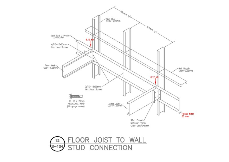 Cold Form Steel Roof Joist To Wall Stud Connection??? - Structural ...