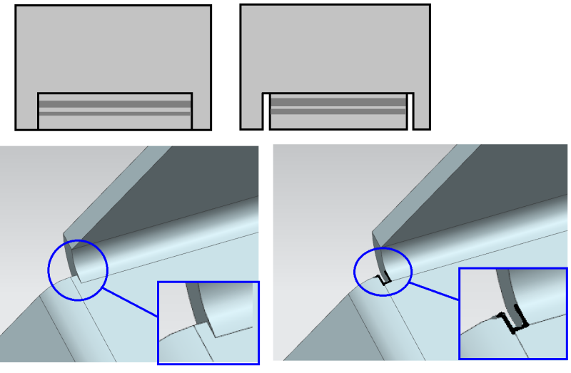 Gap or no gap on sheet metal bends ? - Mechanical