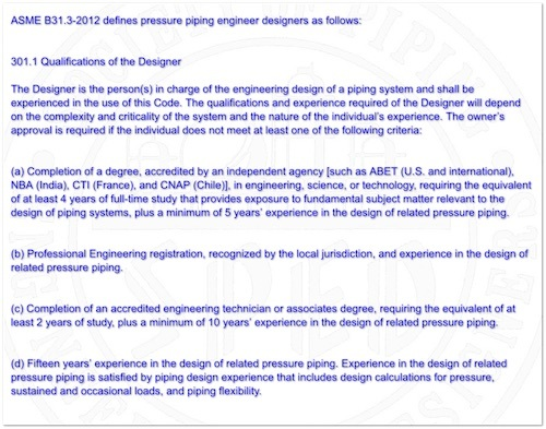 ASME B31 3 flexibility analysis criteria - Pipelines, Piping and