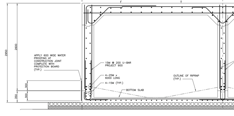 Waterproofing CIP Box Culvert Joints? - Structural