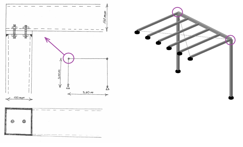 Steel Canopy Beam Column Connection Structural Engineering