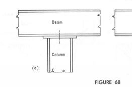 Steel H column connection to mid-span of steel I beam - Structural