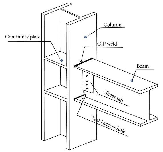 moment frame: column - beam (weld connection) - Structural