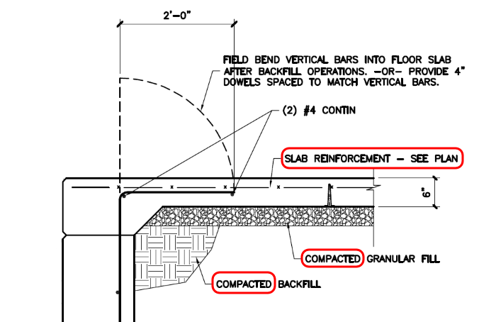 Combination Retaining Wall and Foundation Wall - Structural
