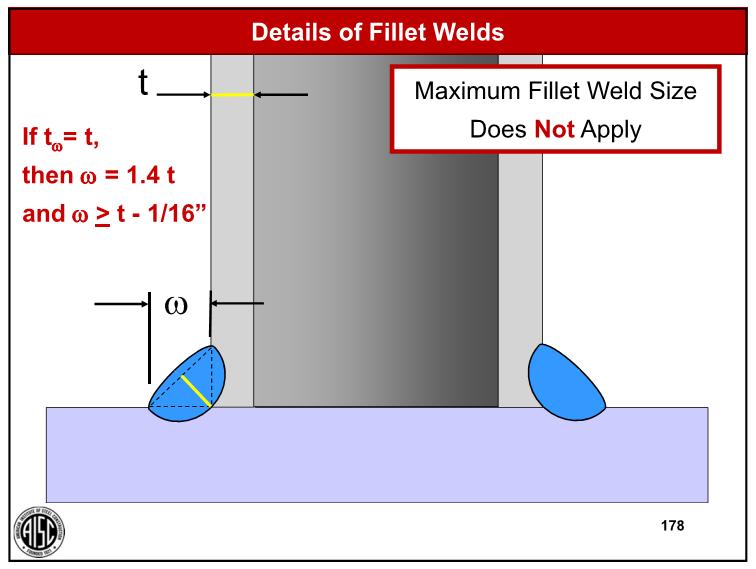 Max size fillet weld in T joint  - Welding, Bonding & Fastener