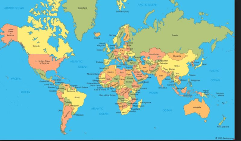 World Map from Different Perspectives - Engineers with Hobbies - Eng on