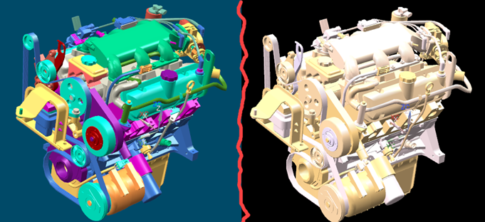 change colors in an assembly - siemens  ug  nx