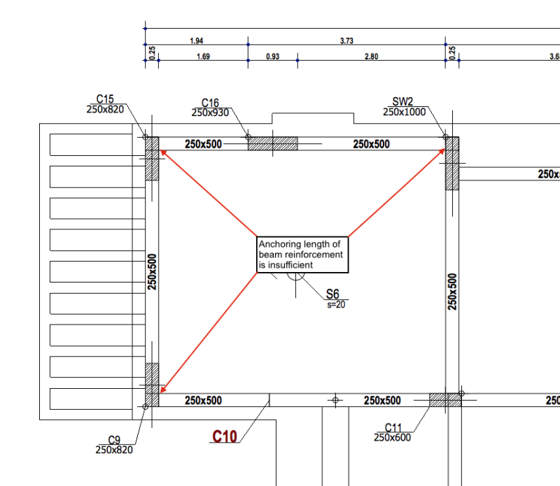 How to overcome lack of anchoring length in Reinforced Concrete