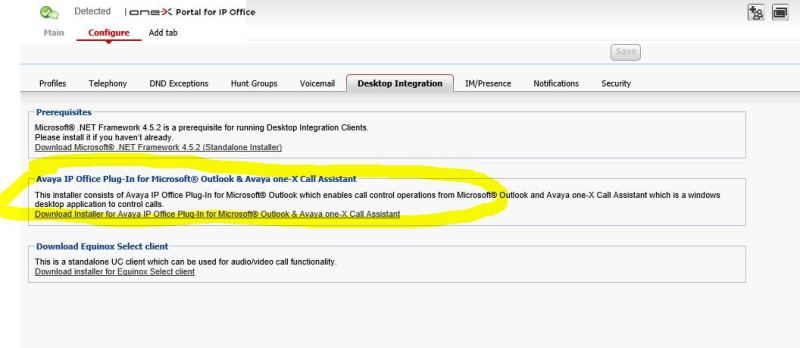 Avaya IP Office Outlook Integration / Click To Dial - Avaya: IP