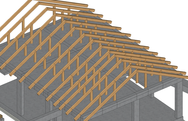 Timber Roof On A Rc Concrete Slab Structural Engineering