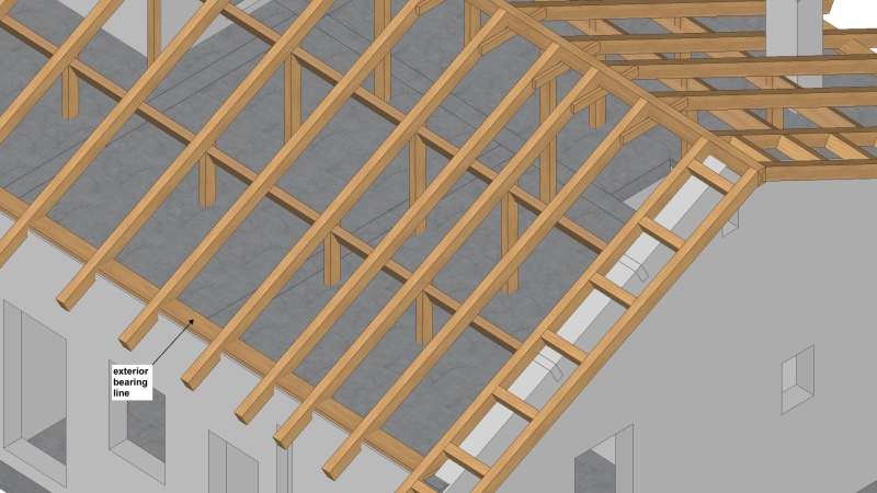 Timber Roof On A Rc Concrete Slab Structural